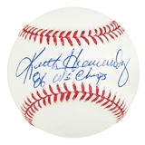 Keith Hernandez Autographed Official Major League Baseball (JSA COA)  Champs Inscription