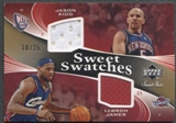 2006/07 Sweet Shot #KJ Jason Kidd LeBron James Swatches Dual Gold Jersey #10/25