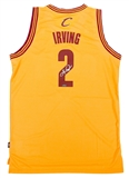 Kyrie Irving Autographed Cleveland Cavaliers Adidas Yellow Jersey (Panini Authentics)