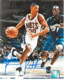 Kerry Kittles Autographed New Jersey Nets 8x10 Photo (Press Pass)