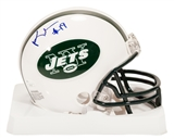 Keyshawn Johnson Autographed New York Jets Mini Helmet (JSA)