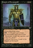 Magic the Gathering Ice Age Single Knight of Stromgald LIGHT PLAY (NM)