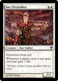 Magic the Gathering Worldwake Single Kor Firewalker UNPLAYED (NM/MT)