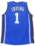 Kyrie Irving Autographed Duke University Blue Basketball Jersey (PSA)