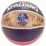 Kyrie Irving Autographed Replica Spalding All Star Basketball w/MVP (Panini Authentics)