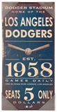 Artissimo Los Angeles Dodgers Vintage Sign 10x20 Canvas