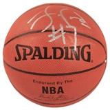 Lamar Odom Autographed Los Angeles Clippers I/O Spalding Basketball (Press Pass)