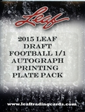 2015 Leaf Draft Football 1/1 Autograph Printing Plate Pack