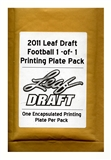 2011 Leaf Draft Football 1-of-1 Printing Plate Pack