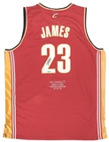 LeBron James Autographed Cleveland Cavaliers ROY Jersey LE to 32 (UDA COA)