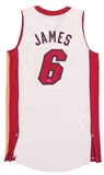 LeBron James Autographed Miami Heat White Official Adidas Jersey (UDA)