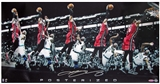 "LeBron James Autographed Miami Heat ""Posterized"" 30x15 Photograph (Upper Deck)"