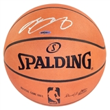 LeBron James Autographed Miami Heat Spalding Basketball (Upper Deck)