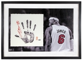 LeBron James Autographed Miami Heat Tegata Lithograph (Upper Deck)