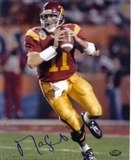 Matt Leinart Autographed USC Trojans 8x10 Photo (GTSM & Press Pass)