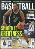 2017 Beckett Basketball Monthly Price Guide (#297 June) (Kawhi Leonard)