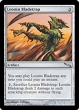 Magic the Gathering Mirrodin Single Leonin Bladetrap Foil