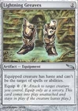 Magic the Gathering Mirrodin Single Lightning Greaves Foil