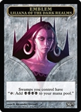 Magic the Gathering 2013 Single Liliana Emblem - NEAR MINT (NM)
