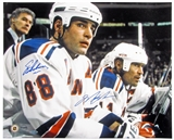 Mark Messier & Eric Lindros Autographed New York Rangers 16x20 Photograph (Steiner)