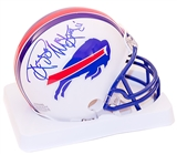 Reggie McKenzie Autographed Buffalo Bills Throwback 76-83 Mini-Helmet