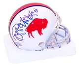Reggie McKenzie Autographed Buffalo Bills Throwback 65-73 Mini Helmet