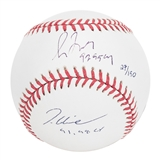 Greg Maddux & Tom Glavine Autographed Atlanta Braves Official MLB Baseball (Steiner)