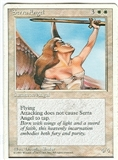 Magic the Gathering 4th Edition Single Serra Angel LIGHT PLAY (NM)