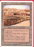 Magic the Gathering 4th Edition Single Strip Mine LIGHT PLAY (NM)