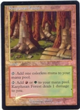 Magic the Gathering 7th Edition Single Karplusan Forest Foil - MODERATE PLAY (MP)