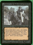 Magic the Gathering Alpha Single Black Knight UNPLAYED (NM/MT)