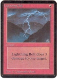 Magic the Gathering Alpha Single Lightning Bolt - SLIGHT PLAY (SP)