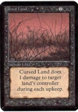 Magic the Gathering Alpha Single Cursed Land - NEAR MINT (NM)