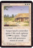 Magic the Gathering Alpha Single Farmstead UNPLAYED (NM/MT)