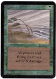Magic the Gathering Alpha Single Hurricane UNPLAYED (NM/MT)