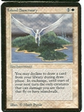Magic the Gathering Alpha Single Island Sanctuary - MODERATE PLAY (MP)