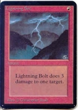 Magic the Gathering Alpha Single Lightning Bolt UNPLAYED (NM/MT)