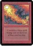 Magic the Gathering Alpha Single Red Elemental Blast - SLIGHT PLAY (SP)