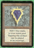 Magic the Gathering Alpha Single Mox Sapphire - MODERATE PLAY (MP)