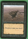 Magic the Gathering Alpha Single Sinkhole UNPLAYED (NM/MT)