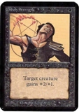 Magic the Gathering Alpha Single Unholy Strength - NEAR MINT (NM)