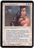 Magic the Gathering Alpha Single Veteran Bodyguard - SLIGHT PLAY (SP)