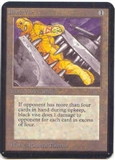 Magic the Gathering Alpha Single Black Vise - NEAR MINT (NM)