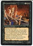Magic the Gathering Antiquities Single Yawgmoth Demon LIGHT PLAY (NM)