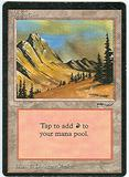 Magic the Gathering Arabian Nights Single Mountain - SLIGHT PLAY (SP)