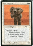 Magic the Gathering Arabian Nights Single War Elephant (b) SLIGHT PLAY (SP)