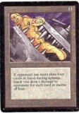 Magic the Gathering Beta Single Black Vise - SLIGHT PLAY (SP)
