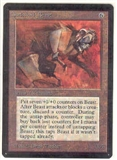 Magic the Gathering Beta Single Clockwork Beast UNPLAYED (NM/MT)