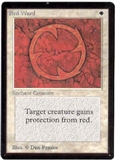 Magic the Gathering Beta Single Red Ward LIGHT PLAY (NM)