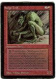 Magic the Gathering Beta Single Sedge Troll - MODERATE PLAY (MP)